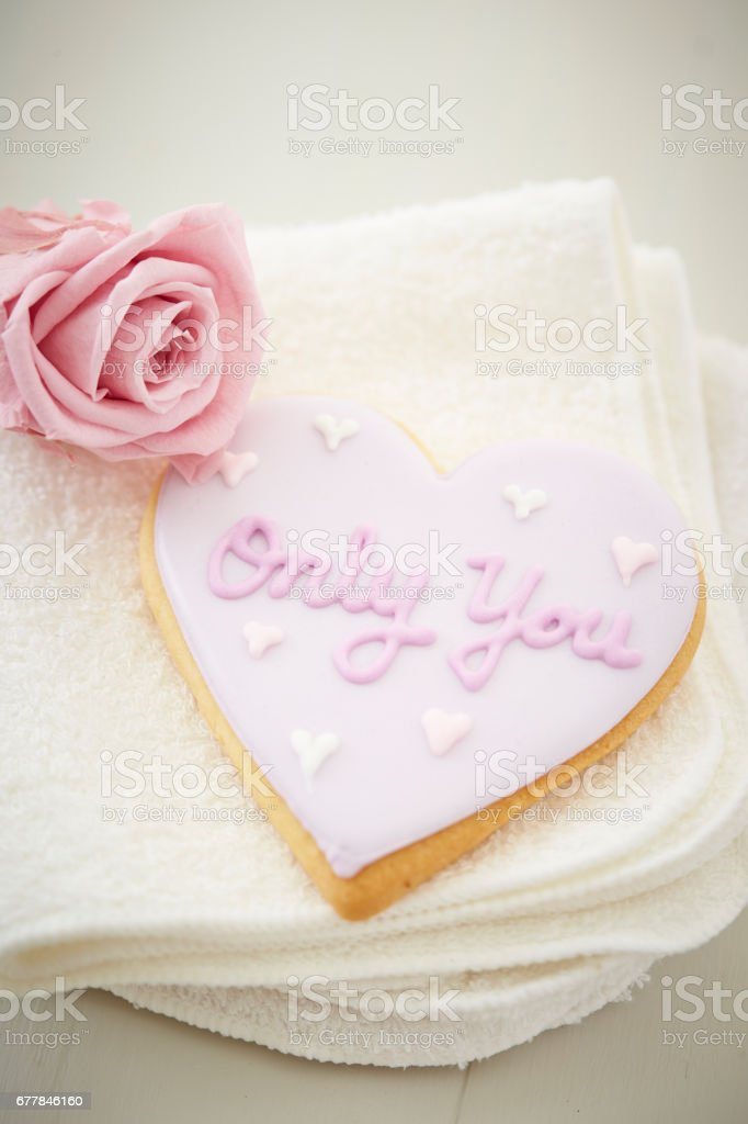 Heart cookie royalty-free stock photo