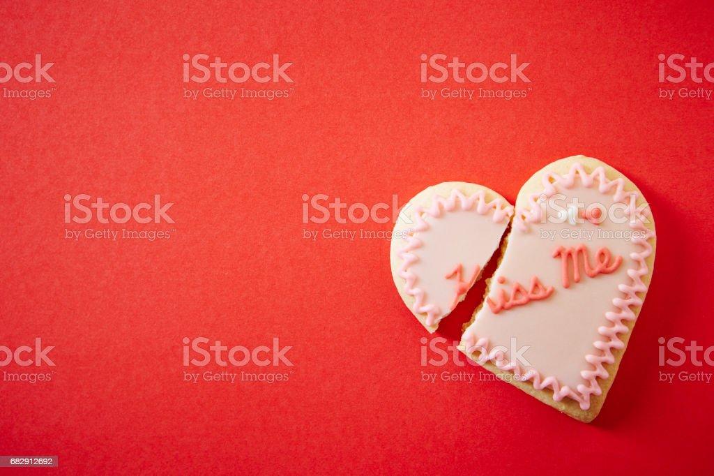 Hjärtat cookie bildbanksfoto