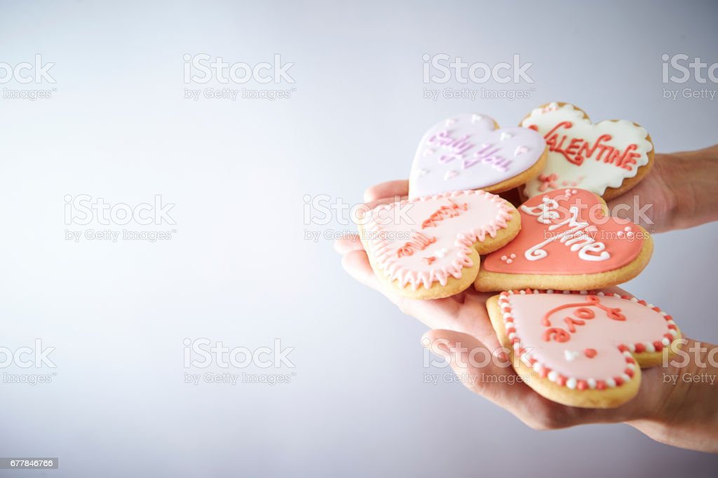 Heart cookies royalty-free stock photo