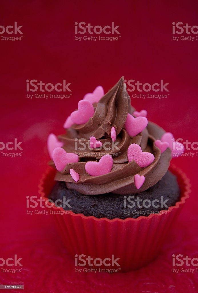 Heart cupcake royalty-free stock photo