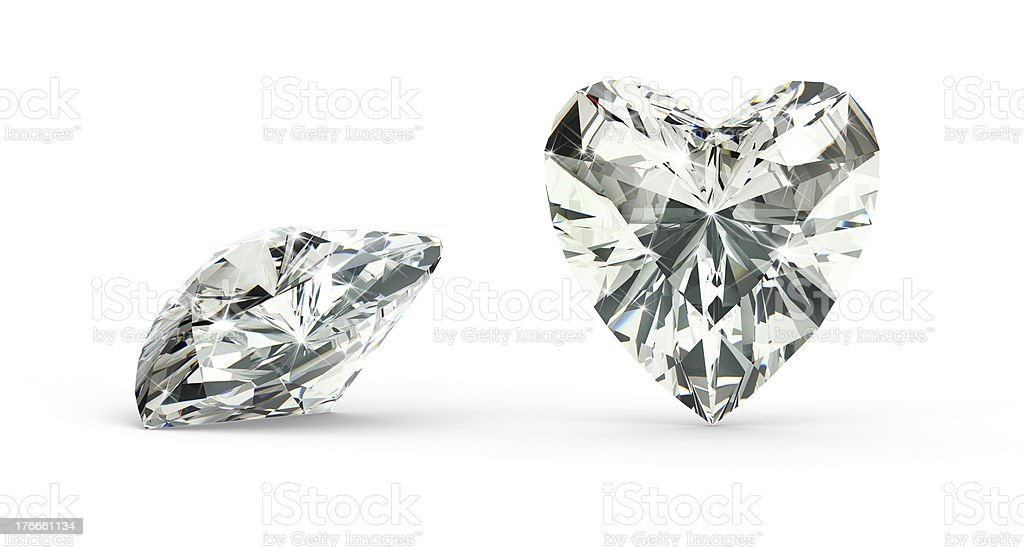 Heart Cut Diamond royalty-free stock photo