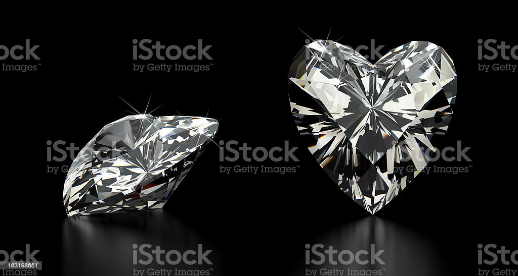 Heart Cut Diamond royalty-free stock photo
