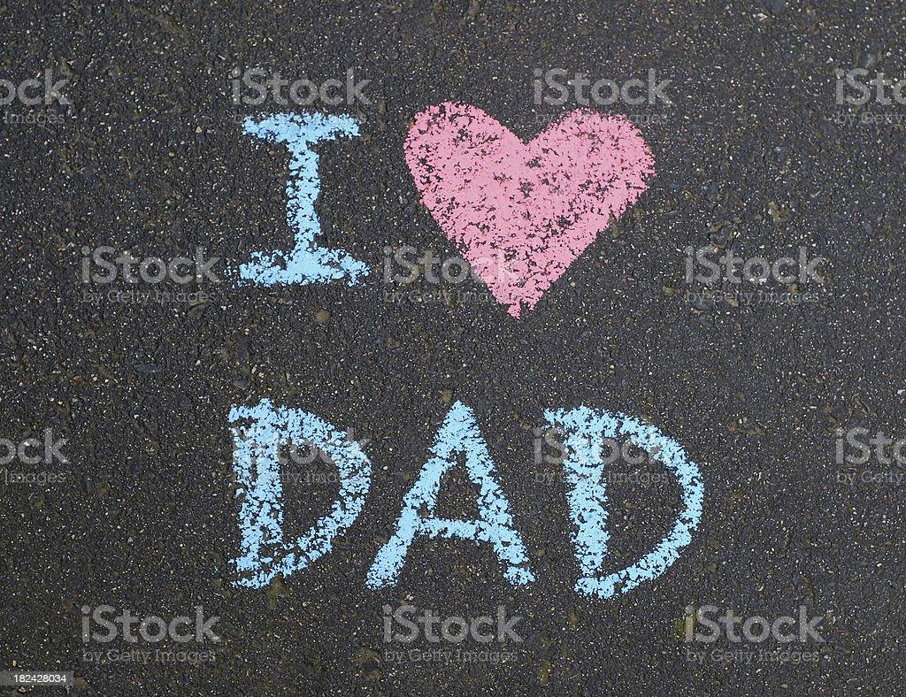 I heart Dad chalkboard writing royalty-free stock photo