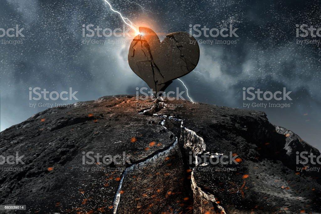 Heart desease or attack stock photo
