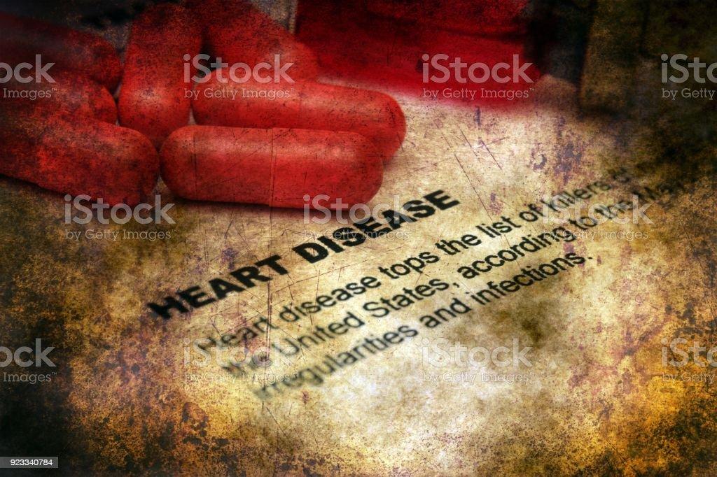 Heart disease grunge concept stock photo