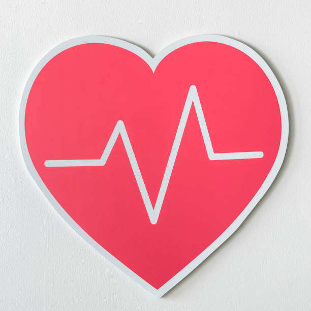 Heart disease medicine cut out icon stock photo