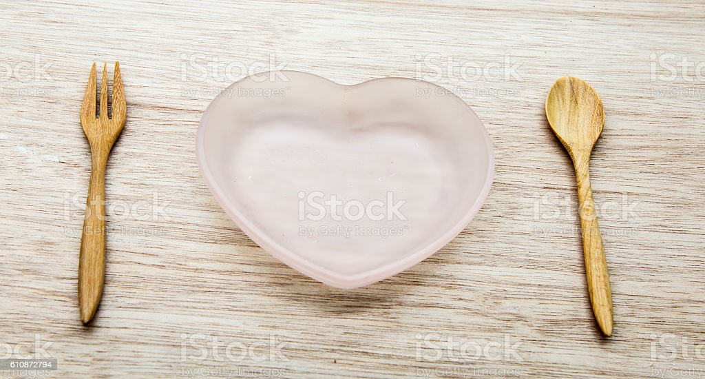 heart dish stock photo
