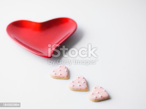 Heart dish with cookies