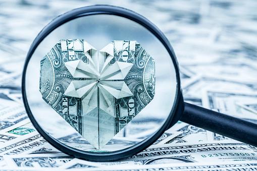Dollar origami DOUBLE HEART ❤️❤️ money heart folding ... | 339x509
