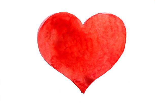 Heart draw stock photo