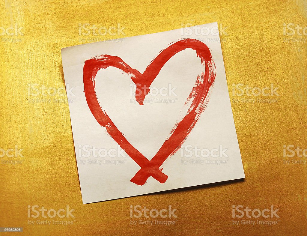 heart drawing royalty-free stock photo
