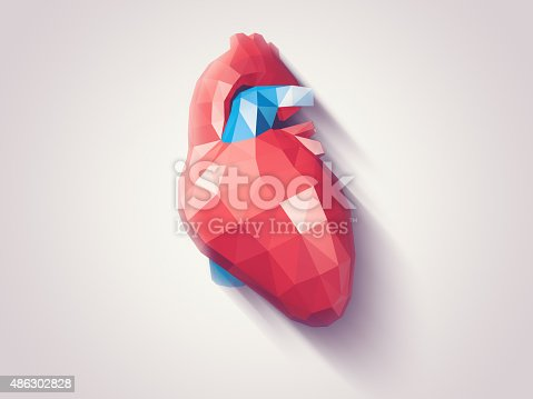 istock Heart faceted 486302828