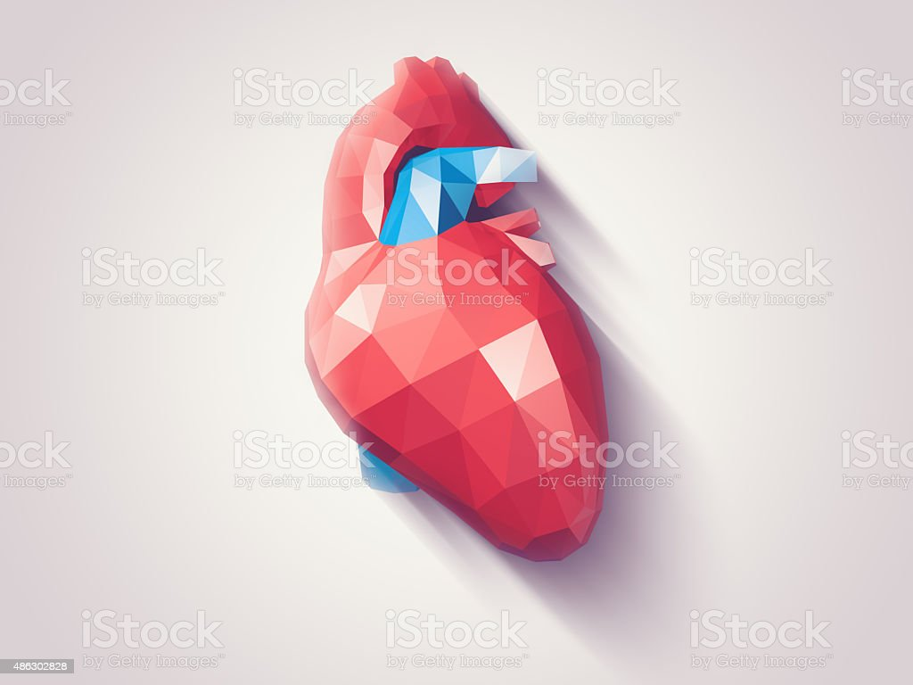 Heart faceted stock photo