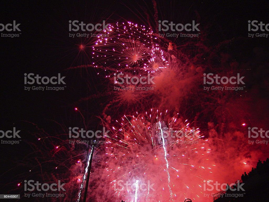 Heart Firework royalty-free stock photo