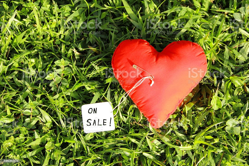 Heart for sale or Love for sale. royalty-free stock photo