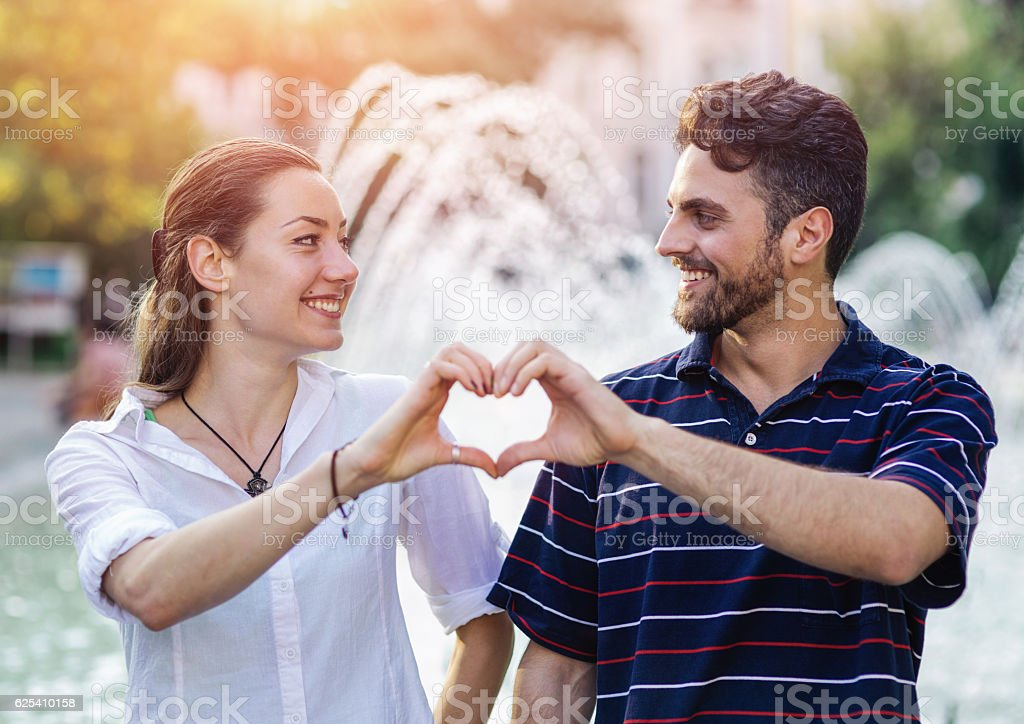 Heart for two stock photo