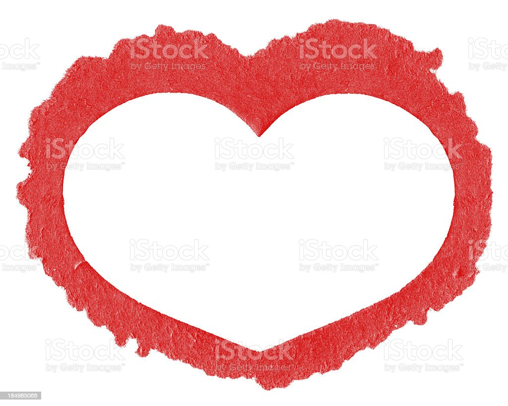 Heart frame with paper isolated royalty-free stock photo