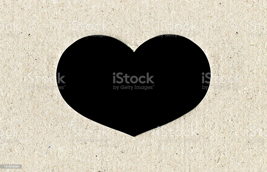 Heart frame with paper textured background royalty-free stock photo