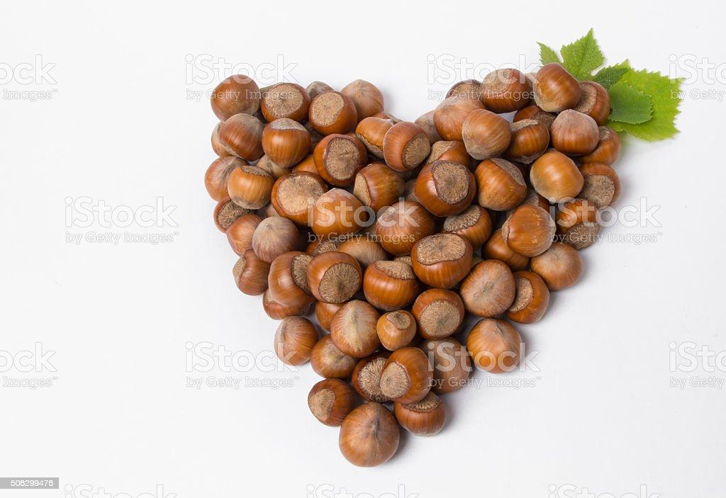 heart fresh nuts stock photo