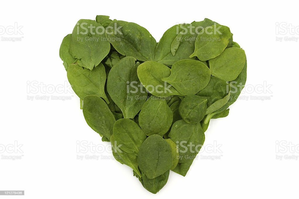 Heart Friendly Super Food Spinach royalty-free stock photo