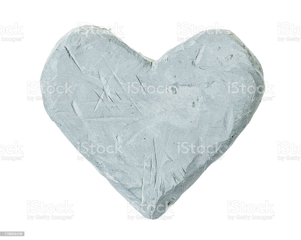 heart from blue clay royalty-free stock photo