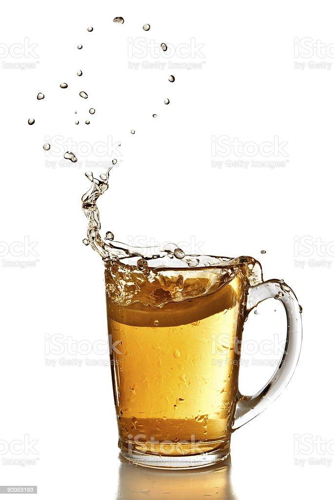 heart from bubbles of tea royalty-free stock photo