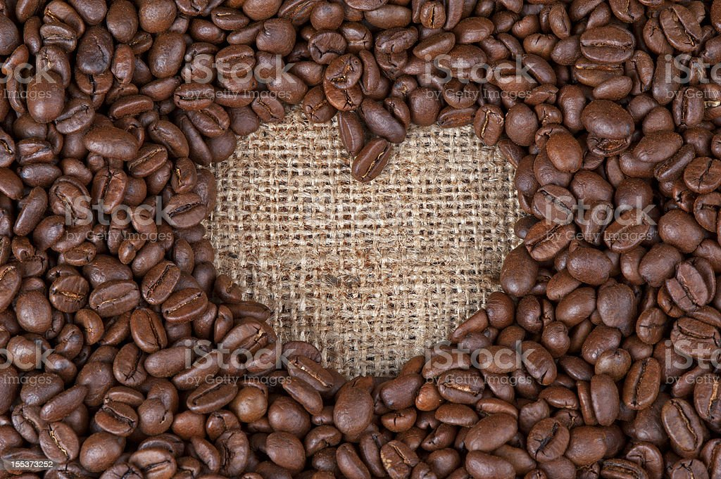 heart from coffee royalty-free stock photo