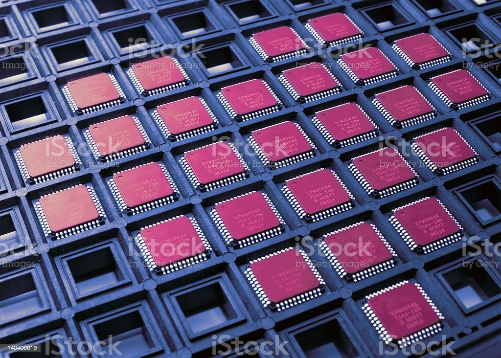 Heart from cpu chips royalty-free stock photo