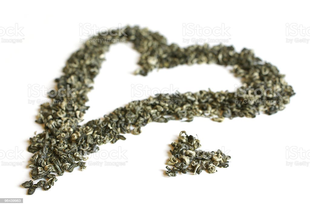 Heart from green tea - Royalty-free Blad Stockfoto