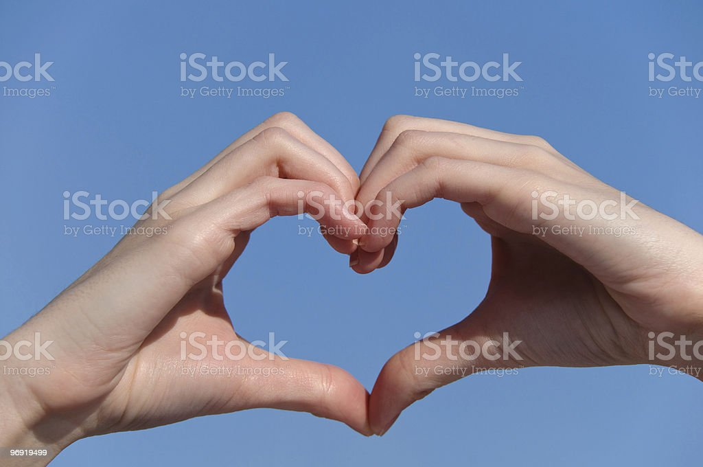 heart from hands royalty-free stock photo