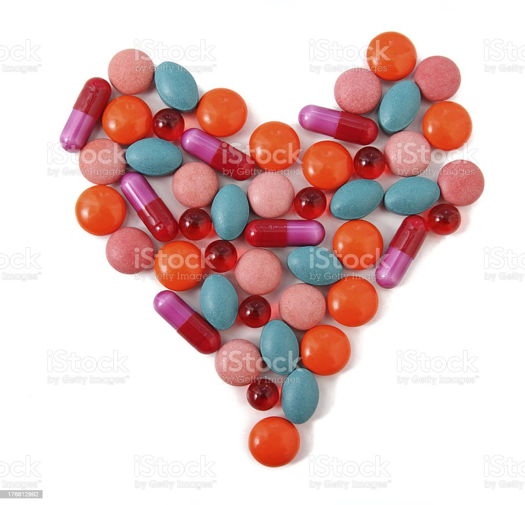Heart from pills royalty-free stock photo