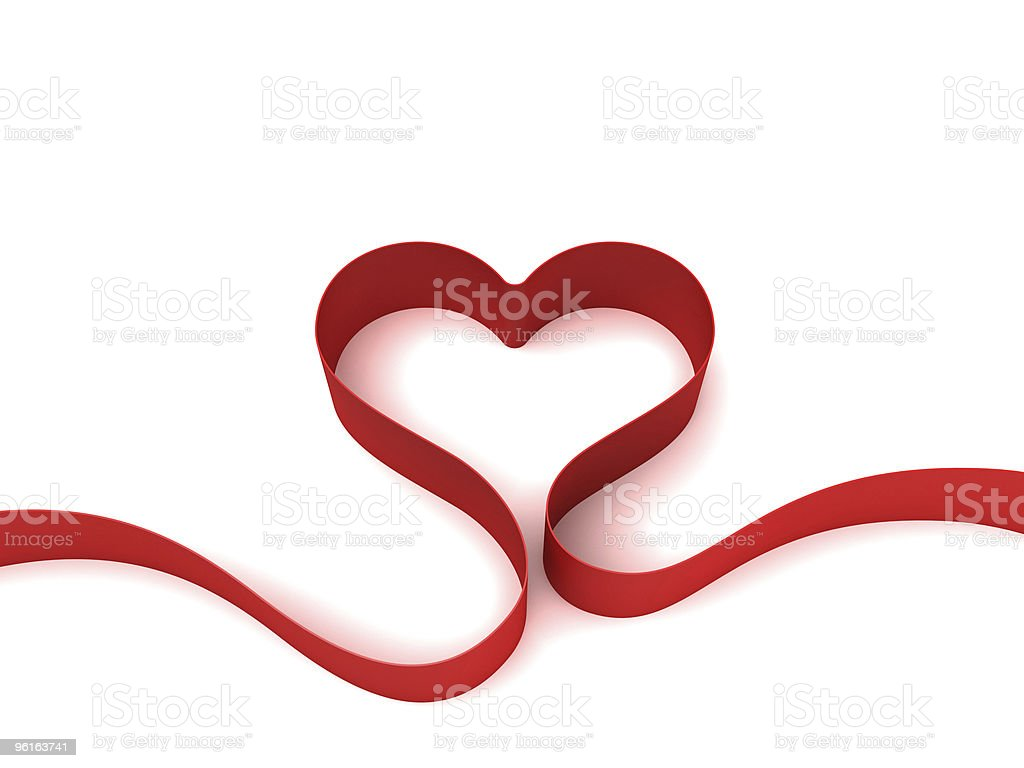 Heart from ribbon royalty-free stock photo