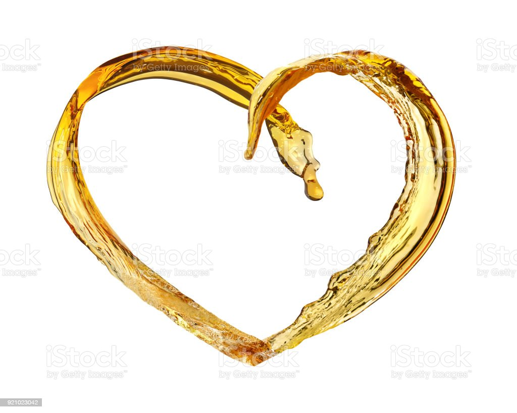 heart from splash stock photo