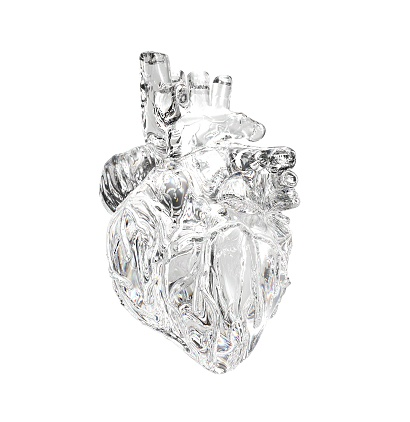 3D Heart Front Clear