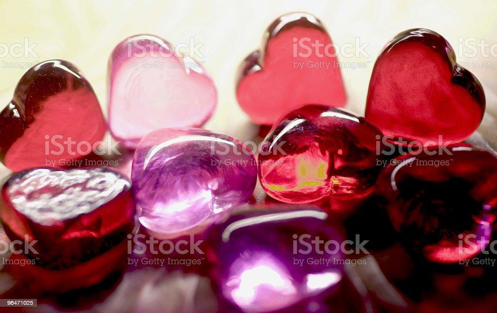 Heart gems royalty-free stock photo