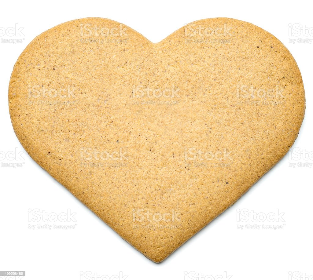 Heart Gingerbread Cookie stock photo
