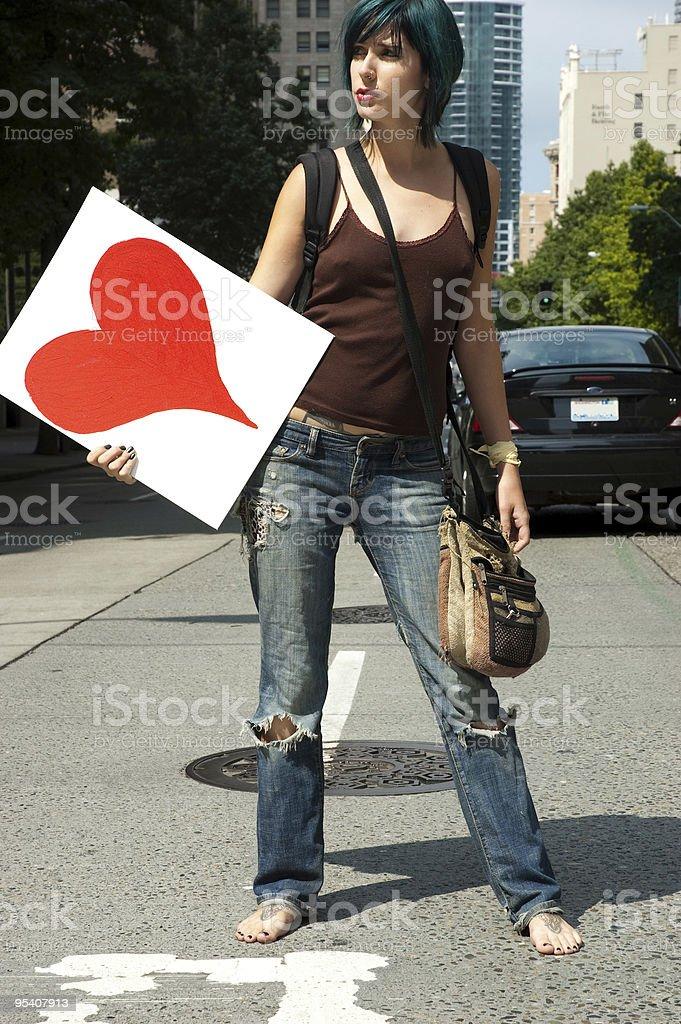 Herz Mädchen Lizenzfreies stock-foto
