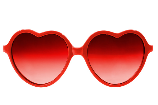 Red heart glasses. This file have 2 paths, one for the left glass and one for the right glass.