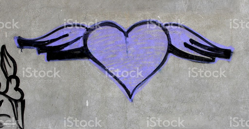 heart graffiti royalty-free stock photo