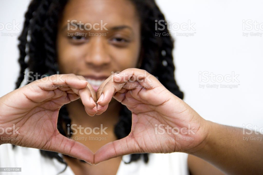 Heart Hand Sign ,Love and Friendship stock photo
