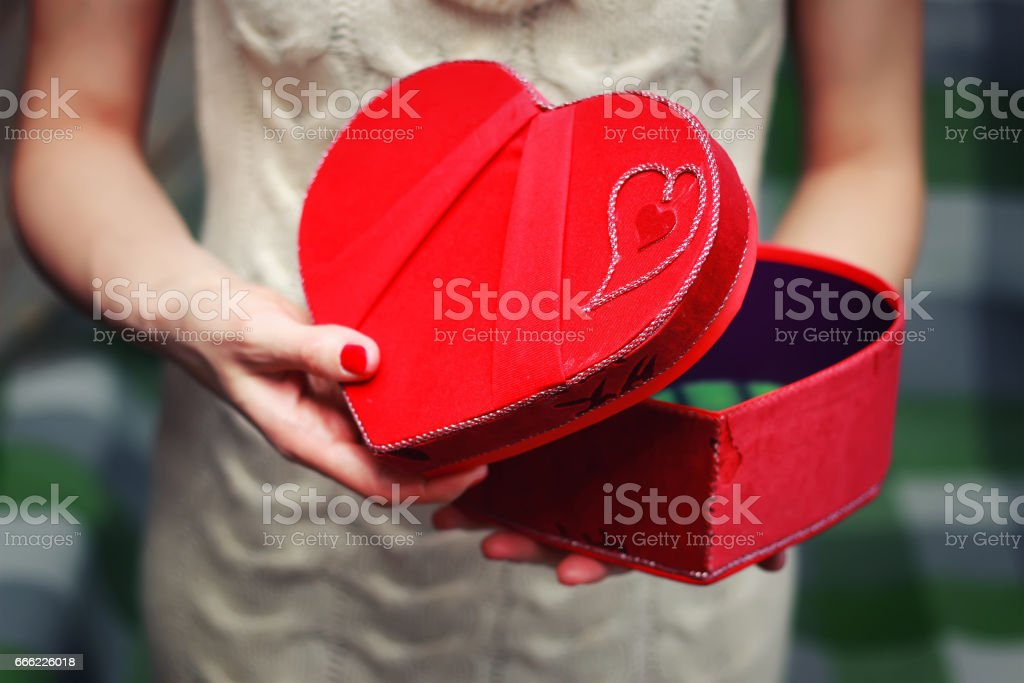 Heart Hand Valentine Gift Box Stock Photo More Pictures Of Adult