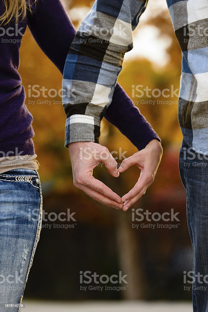 Heart Hands - Vertical stock photo