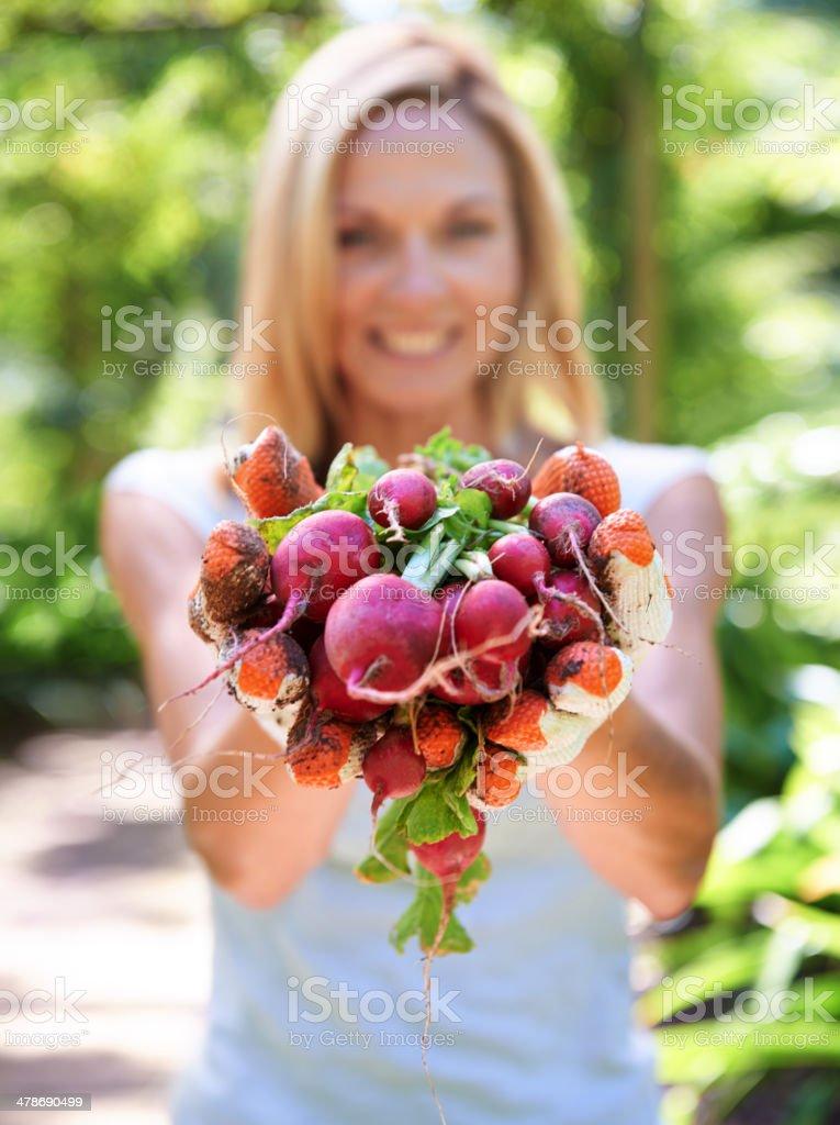 Heart health is in her hands stock photo