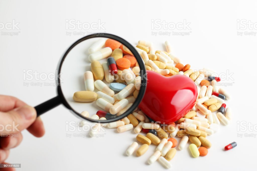 Heart health treatment stock photo