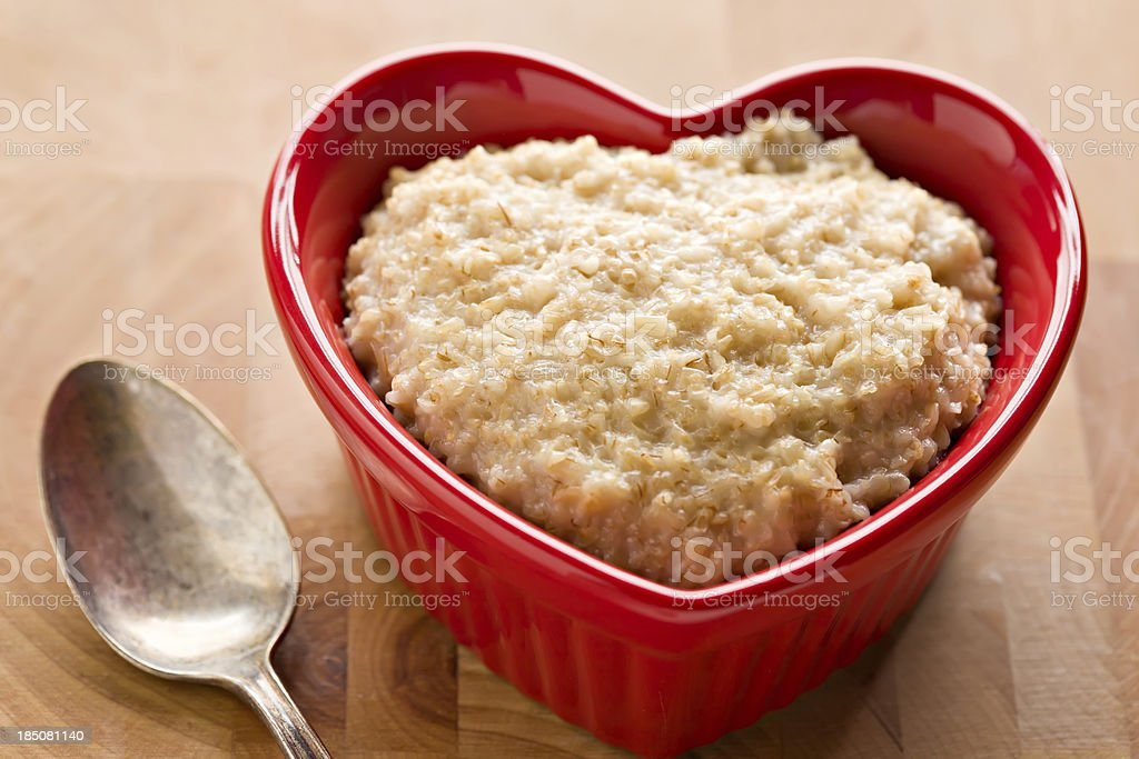 Heart Healthy Oatmeal royalty-free stock photo