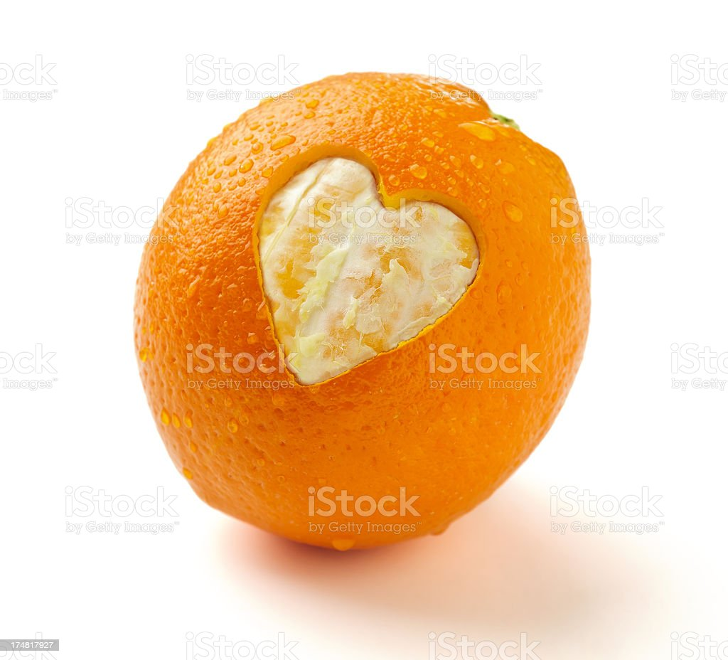 Heart Healthy Orange royalty-free stock photo