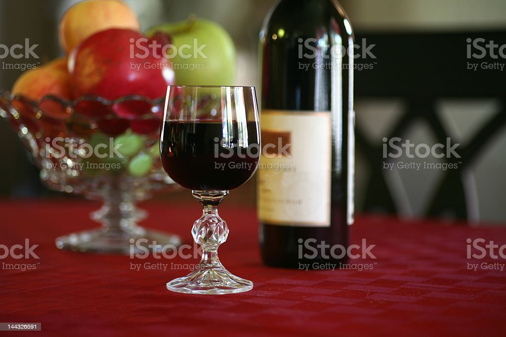 Heart Healthy Wine & Fruit royalty-free stock photo