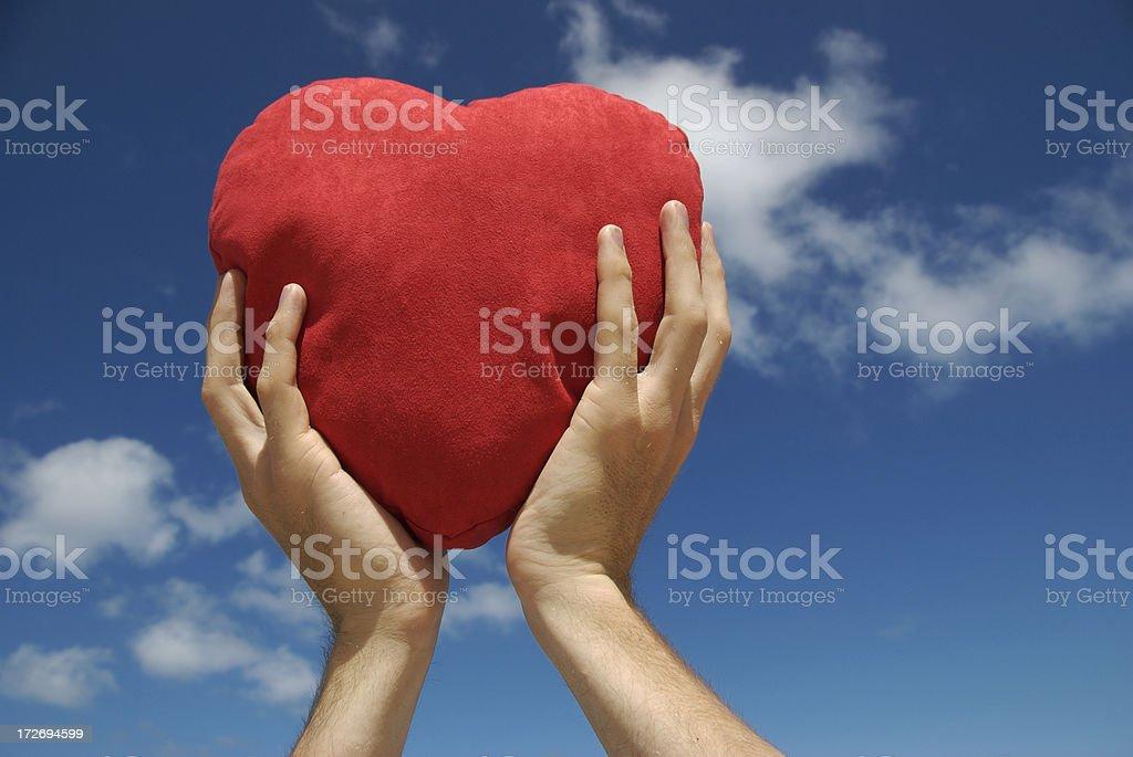 Heart Held High stock photo