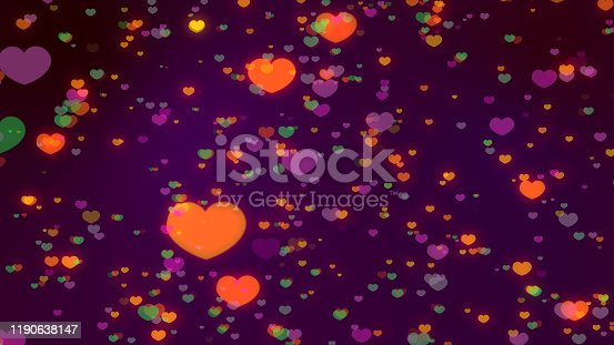 896306118istockphoto Heart icon bokeh on dark color background for Christmas festival or winter season contents or for wallpaper or paper for contents about winter for love content or valentine day or for wallpaper. 1190638147