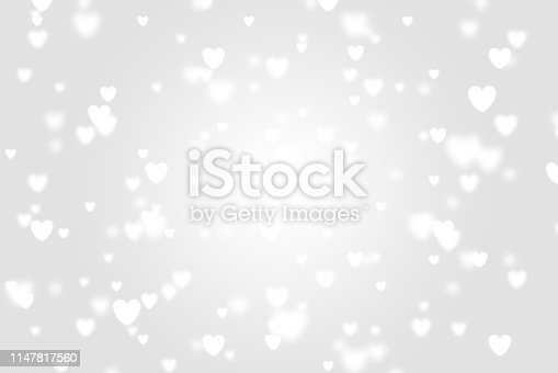 Heart icon bokeh on grey color background for Christmas festival or winter season contents or for wallpaper or paper for contents about winter for love content or valentine day or for wallpaper.